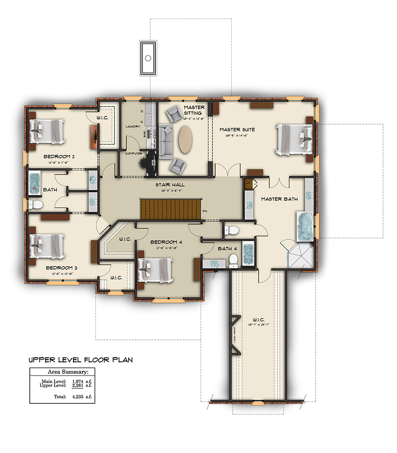 Floor plan examples in color and black white for Digital house design